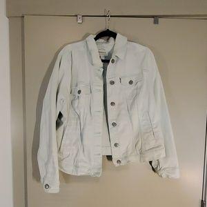 Soft baby blue jean jacket 2x